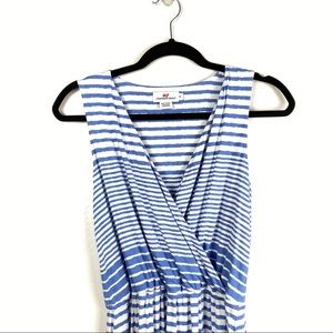 Vineyard Vines | Blue Stripe V Neck Maxi Dress